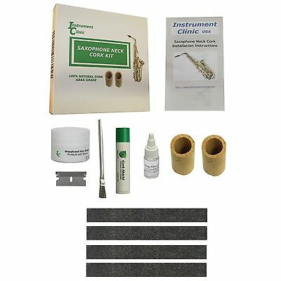 IC Alto Saxophone Natural Neck Cork kit, Seamless, Maintenance Items