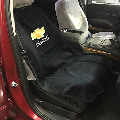 Chevrolet Car Seat Towel Slip-On Cotton Terry Cloth Black Seat Cover 47