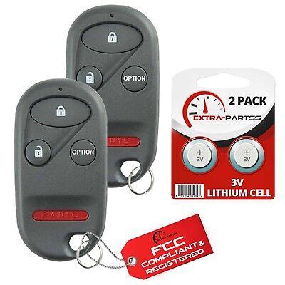 2 For 1997 1998 1999 2000 2001 Honda CR-V Keyless Entry Key Remote Fob