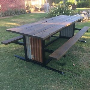 Rustic outdoor table Myrtleford Alpine Area Preview