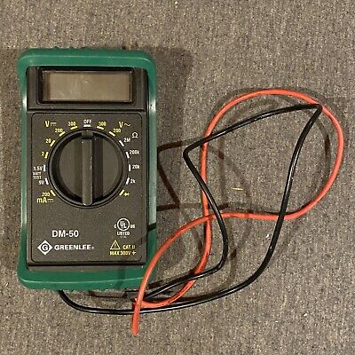 Greenlee Dm-50 Digtal Multimeter Wleads