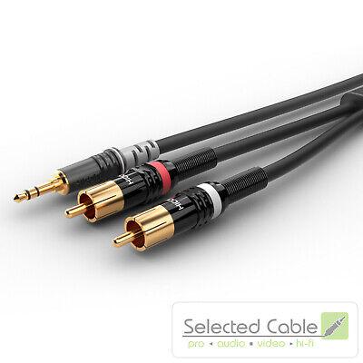 SOMMER CABLE Basic+ 3m Mini-Klinke auf Cinch Instrumentenkabel   HBP-3SC2-0300