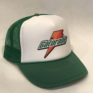 36550142 Vintage Gatorade Sports Drink Trucker Hat Mesh Snapback Promo Cap Green
