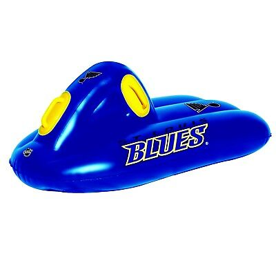 ST LOUIS BLUES NHL SUPER SLED SLEIGH FOR SNOW OR POOL WATER RAFT 42