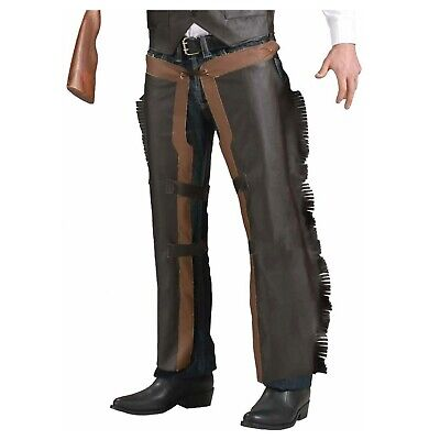 Western Outlaw Costume (Adult Western Cowboy Outlaw Sheriff Halloween Costume Faux Leather Chap)