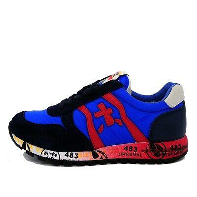 PREMIATA sneakers bambino scarpe bimbo SKY 31361 tg. 31 blu made in Italy