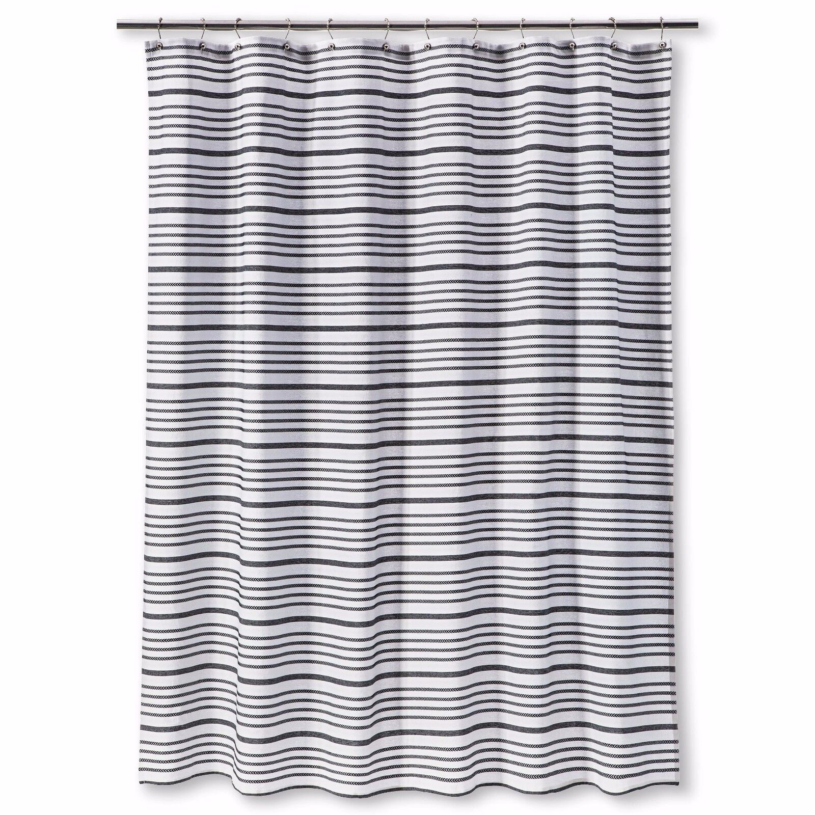 Details About Multi Stripe Shower Curtain Ebony Threshold New In Package