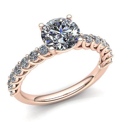 1ctw Round Cut Diamond Ladies Accented Solitaire Engagement Ring 10K Gold Ctw Round Cut Diamond Solitaire