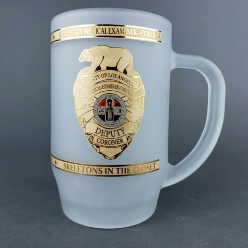 Los Angeles County Chief Medical Examiner Coroner Mug Frosted Stein