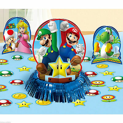 Super Mario Brothers Table Decoration Kit Birthday Party Favor Supplies (23pc) (Super Mario Brothers Decorations)