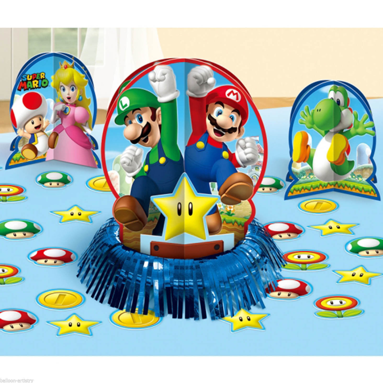Details About Super Mario Brothers Table Decoration Kit Birthday Party Favor Supplies 23pc