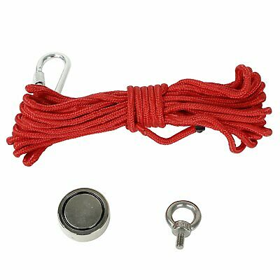 Fishing Magnet Kit Upto 300 Lbs Pull Force Strong Neodymium Rope Carabiner