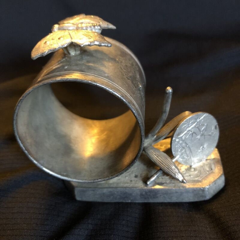 Antique Silverplate Figural Simpson Hall & Miller Aesthetic Oriental Napkin Ring