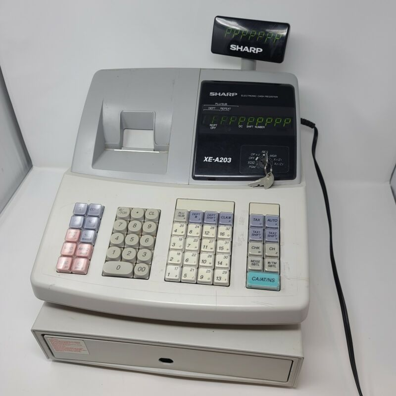 Sharp Electronic Cash Register Model XE-A203 Good Condition