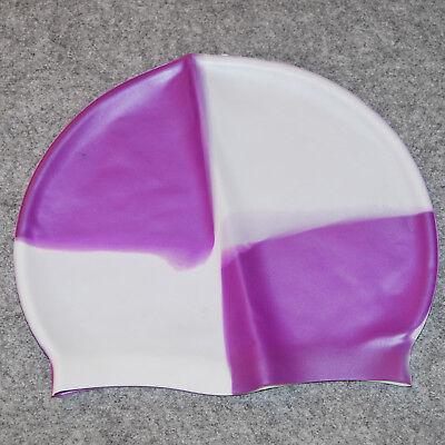 Badekappe Silikon silicone Badehaupe weiß white lila purple