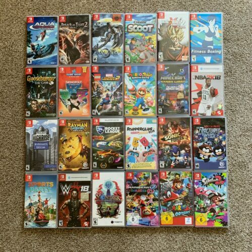 Replacement Case ONLY NO GAME Assorted Lot Nintendo Switch Original COVER ART