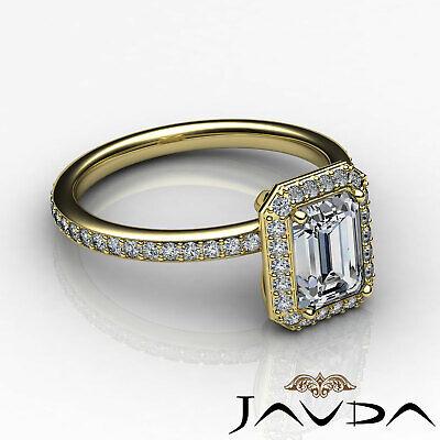 Halo Emerald Diamond Vinatge Engagement Ring GIA Certified H SI1 Platinum 2 ct 8
