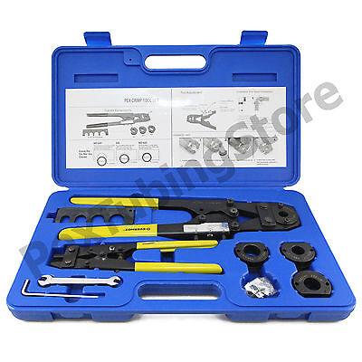 Pex Crimp Tool Kit With Decrimper For Sizes 38 12 58 34