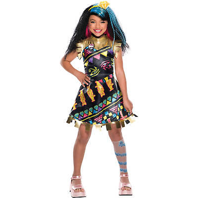 NEW Cleo De Nile Girls Childs Med (8-10) Costume Light UP! 3 Pieces! Halloween
