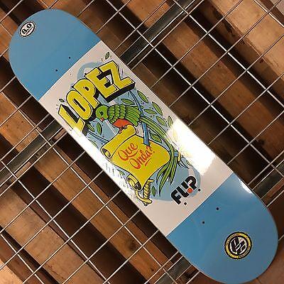 New Flip Lopez Flag Series P2 Blue/White Skateboard Deck - 31.5in x -