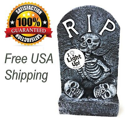 Halloween Tombstone Scary Decoration with LED 6