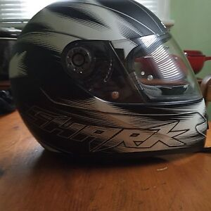 Motorcycle helmets for sale.
