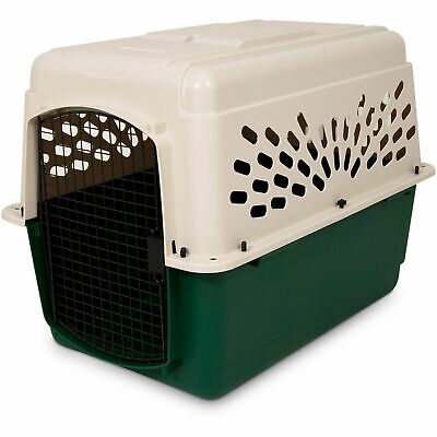 Petmate Cat Crate - Dog Travel Pet Kennel Crate Cat Cage Carrier Large Portable Plastic Airline Door