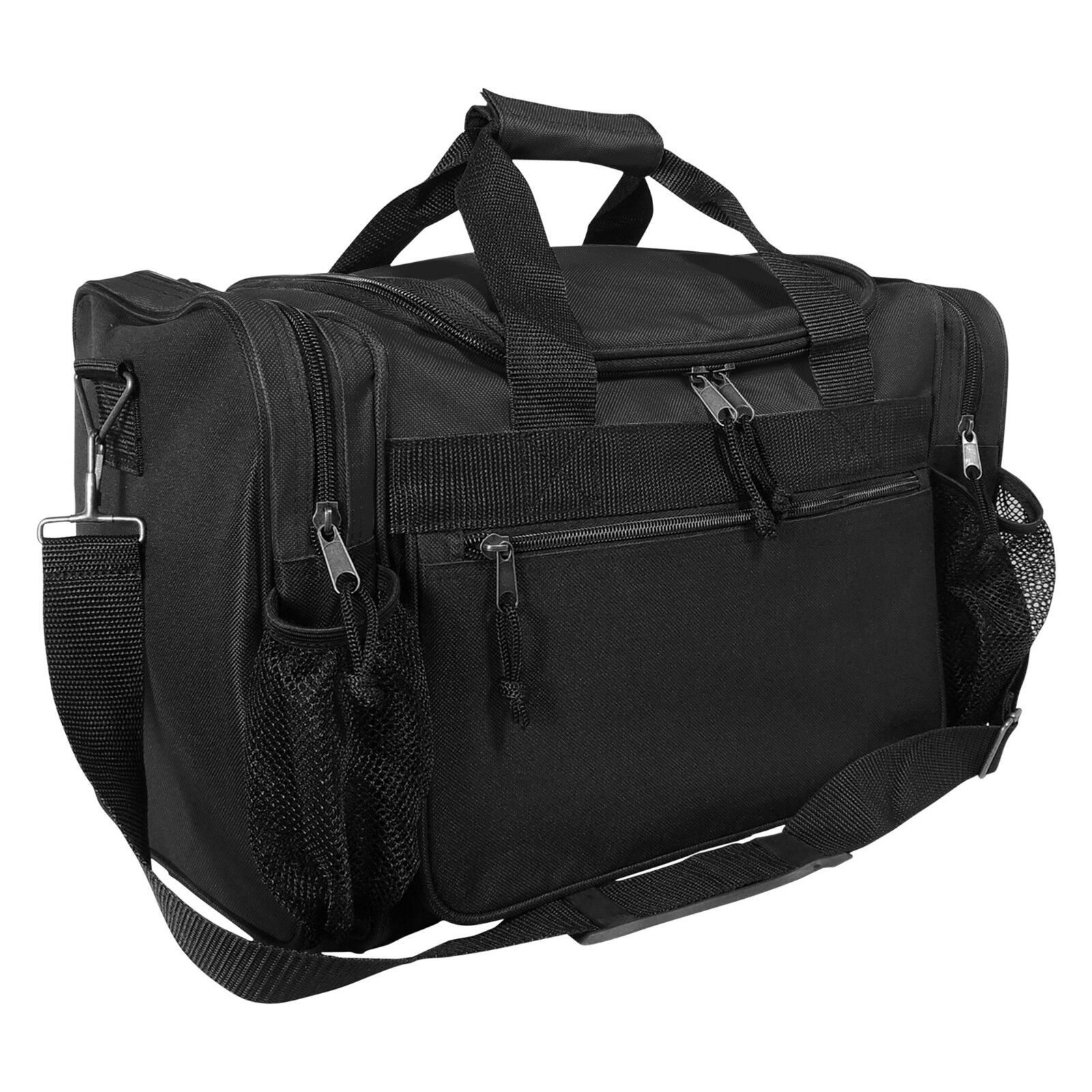 "DALIX 15"" Duffle Bag Dual Front Mesh Accessories Pockets in"