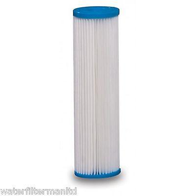 Plissee Wasserfilterpatrone, Waschbar Sedimentfilter Hohe Durchflussrate 25,4 Sediment Filter Patrone