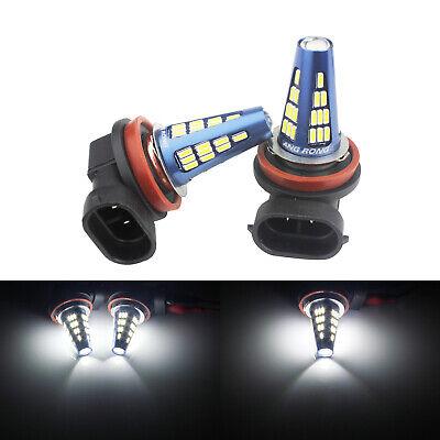 2x H11 H8 48 SMD 5W LED Scheinwerfer Nebel Tagfahrlicht Glühlampe DRL Weiß 6000K