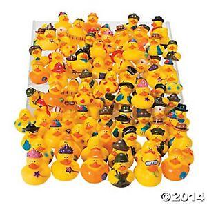 50PC RUBBER DUCK ASSORTMENT Vinyl Rubber Ducky Assortment HUGE LOT BRAND NEW