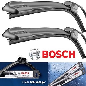 2 - Genuine Bosch Clear Advantage Wiper Blade Size 24 / 22 Front Left and Right
