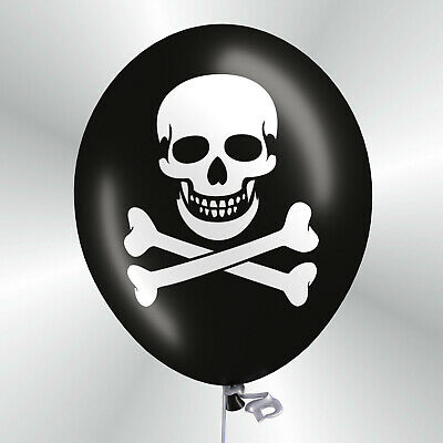 Premium Luftballons Totenkopf 30 / 50 Halloween Party Dekoration Pirat Fasching