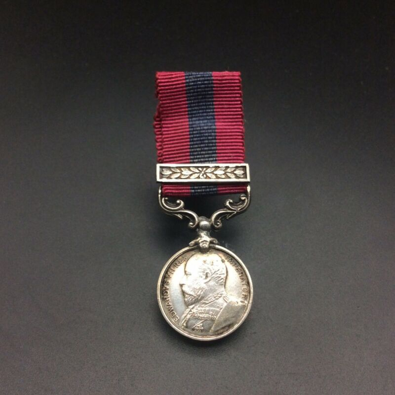 DISTINGUISHED CONDUCT MEDAL & SECOND AWARD BAR EDWARD VII DCM MINIATURE MEDAL