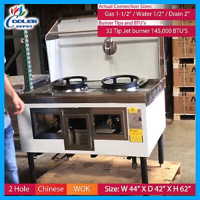 2 Hole Wok Range Chinese Cuisine Commercial Restaurant Nsf Cooler Depot New