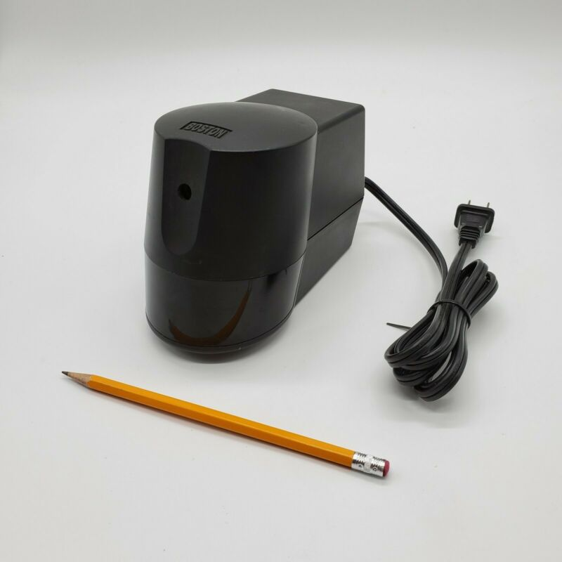 Boston Electric Pencil Sharpener Black - Model 21 - Tested and Working