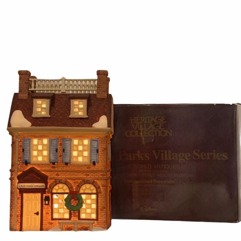 Dept 56 Disney Parks Olde World Antiques Liberty Square Village Series 53511