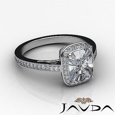 Filigree Halo Pave Setting Cushion Diamond Engagement Ring GIA G Color SI1 1.5Ct 2