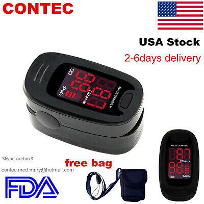 Finger Pulse Oximeter Blood Oxygen Meter Heart Rate Spo2 Monitor Sensor Fda 50m