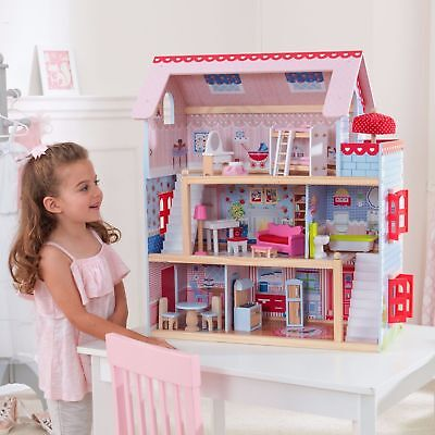 Best New Kids Doll House Cottage Furniture Kitchen Toy Christmas Gift Play