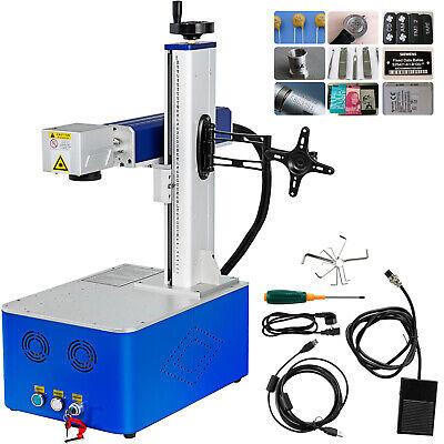 30w 150150mm Fiber Laser Marking Machine Laser Engrave Metal Non-metal