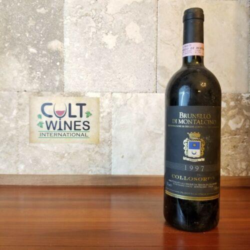 ST 91 pts! 1997 Collosorbo Brunello di Montalcino Toscana wine, Italy