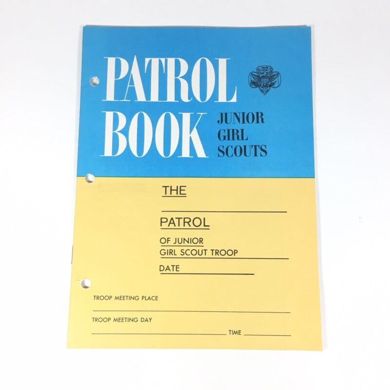 1964 MINT PATROL BOOK for Leader Junior Girl Scouts-Attendance Activities Ideas