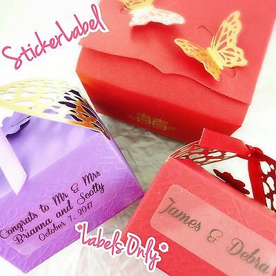 Personalized Wedding Labels Custom Stickers Party Favors Tags Baby Shower Clear
