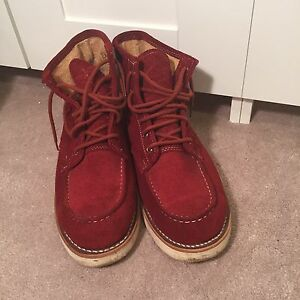 Men rust suede boots