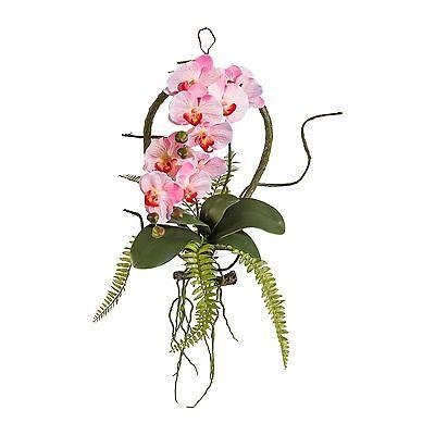 Wandhänger Orchidee Hänger Hängeorchidee Kunstpflanze rosa rose 1917851-10 F59
