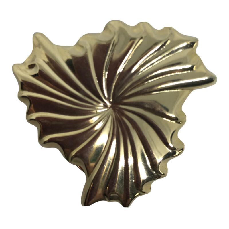 """Vintage Signed Jeri Lou Scarf Clip Goldtone Swirl Design 1 5/8"""""""