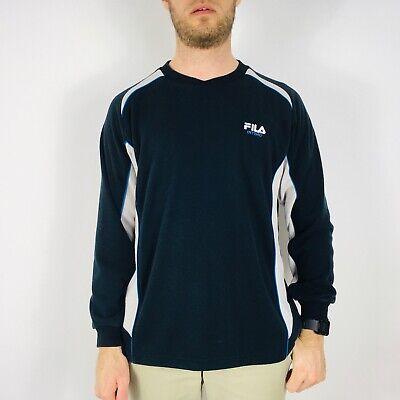 Vintage FILA Intimo Men's Medium Navy Blue Sweatshirt Crew Neck