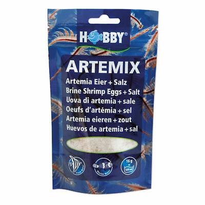 Hobby Artemix Eier + Salz 195g für 6 L - fertige Mischung Artemia-Eier Nauplien