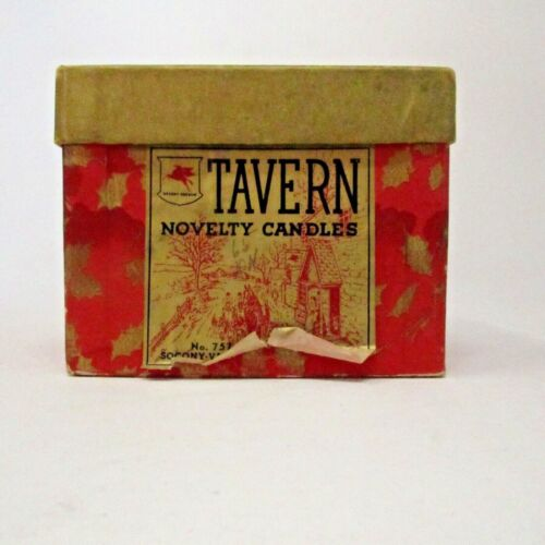 Vintage Tavern Novelty Candles 4 in Box Snowmen with some color left